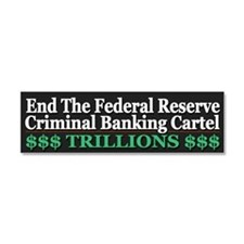 Criminal Banking Cartel Car Magnet 10 x 3
