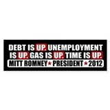 Time Is Up Anti Obama Bumper Sticker