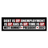 Time Is Up Anti Obama Bumper Stickers