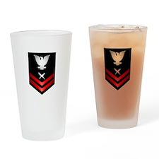 Navy PO2 Cryptologic Technician Drinking Glass