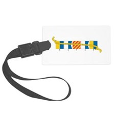 Cute Power boats Luggage Tag