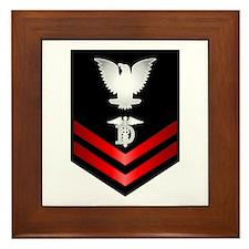 Navy PO2 Dental Technician Framed Tile