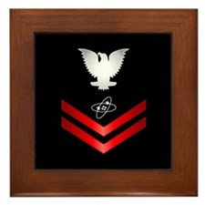 Navy PO2 Electronics Technician Framed Tile