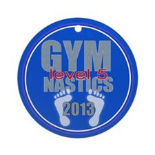 Gymnastics Level 5 Ornament (Round)