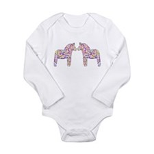 Cute Dala horses Long Sleeve Infant Bodysuit