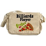 Billiards Player Funny Pizza Messenger Bag