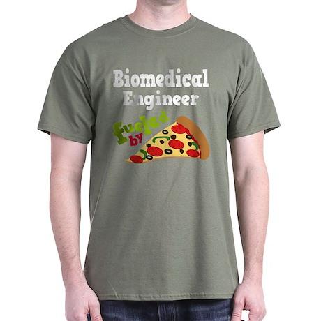 Biomedical Engineer Funny Pizza Dark T-Shirt