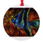 Angel Fish Round Ornament