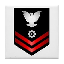 Navy PO2 Engineman Tile Coaster