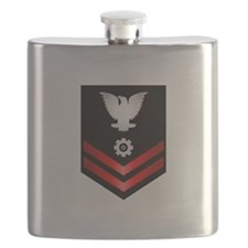 Navy PO2 Engineman Flask