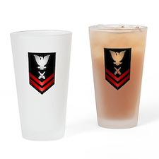 Navy PO2 Gunner's Mate Drinking Glass