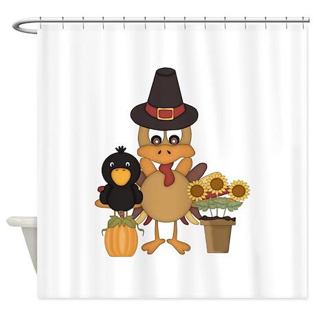 Thanksgiving Friends Shower Curtain