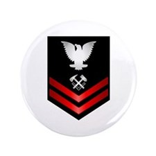 "Navy PO2 Hull Maintenance Technician 3.5"" Button"