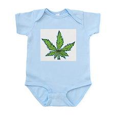 weedpals leaf design Infant Bodysuit