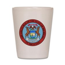 Michigan State Seal Shot Glass