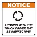 "Truck Driver / Argue Square Car Magnet 3"" x 3"""