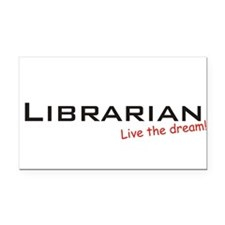 Librarian / Dream! Rectangle Car Magnet