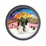XMusic2-Two Springer Spaniels Wall Clock