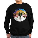 XMusic2-Two Springer Spaniels Sweatshirt (dark)