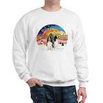 XMusic2-Two Springer Spaniels Sweatshirt