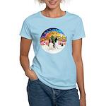 XMusic2-Two Springer Spaniels Women's Light T-Shir