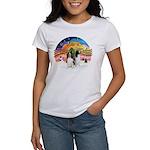 XMusic2-Two Springer Spaniels Women's T-Shirt