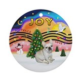 XMusic 2 - French Bulldog (fawn) Ornament (Round)