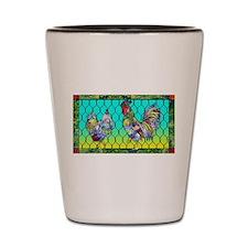 Rooster & Hen Shot Glass