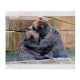 Cute Grizzly Throw Blanket