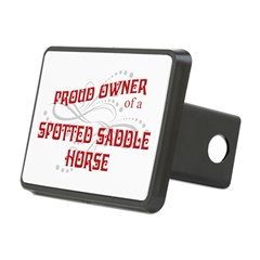 Proud Owner of a Spotted Saddle Horse rectangular receiver hitch cover