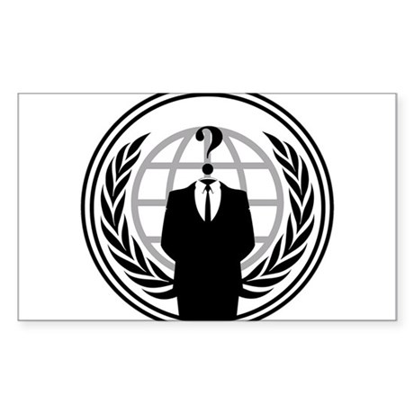 Anonymous Rectangle Sticker