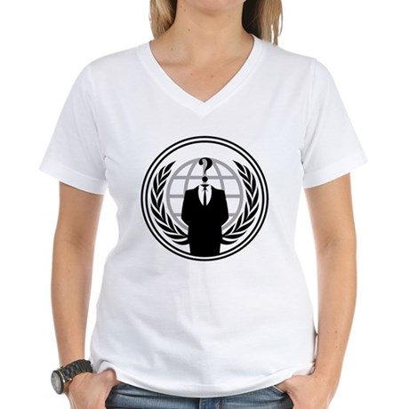 Anonymous Womens V-Neck T-Shirt