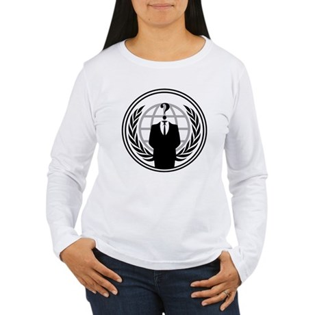 Anonymous Womens Long Sleeve T-Shirt