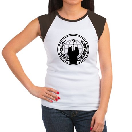 Anonymous Womens Cap Sleeve T-Shirt