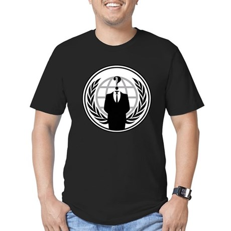 Anonymous Mens Fitted Dark T-Shirt