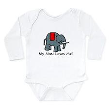Cute India Long Sleeve Infant Bodysuit