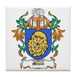 Mihill Coat of Arms Tile Coaster