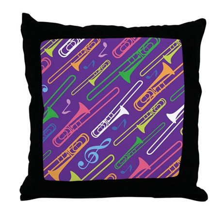 Trombone Band Gift Throw Pillow