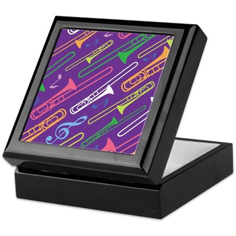Trombone Band Gift Keepsake Box