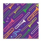 Trombone Band Gift Tile Coaster