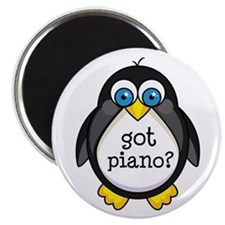 Piano Music Penguin Magnet