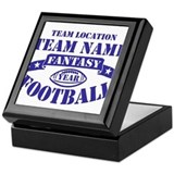 PERSONALIZED FANTASY FOOTBALL NAVY Keepsake Box