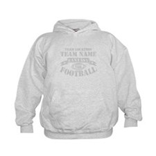 FANTASY FOOTBALL PERSONALIZED GREY Hoodie