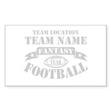 FANTASY FOOTBALL PERSONALIZED GREY Decal