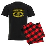 Fantasy Football Personalized Gold pajamas