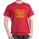 Fantasy Football Personalized Gold T-Shirt