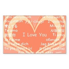 I love you around the world Sticker (Rectangle)