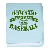 YOUR TEAM FANTASY BASEBALL baby blanket