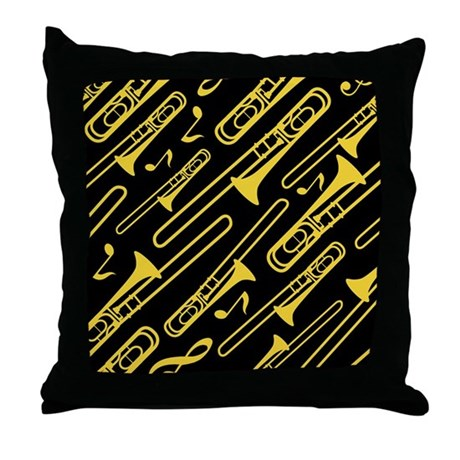Trombone Gift Throw Pillow