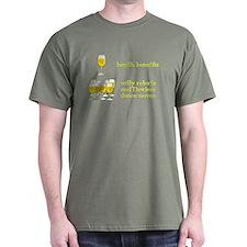 One Glass Wine Health Benefits T-Shirt
